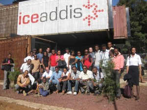 Training participants outside ICE Addis